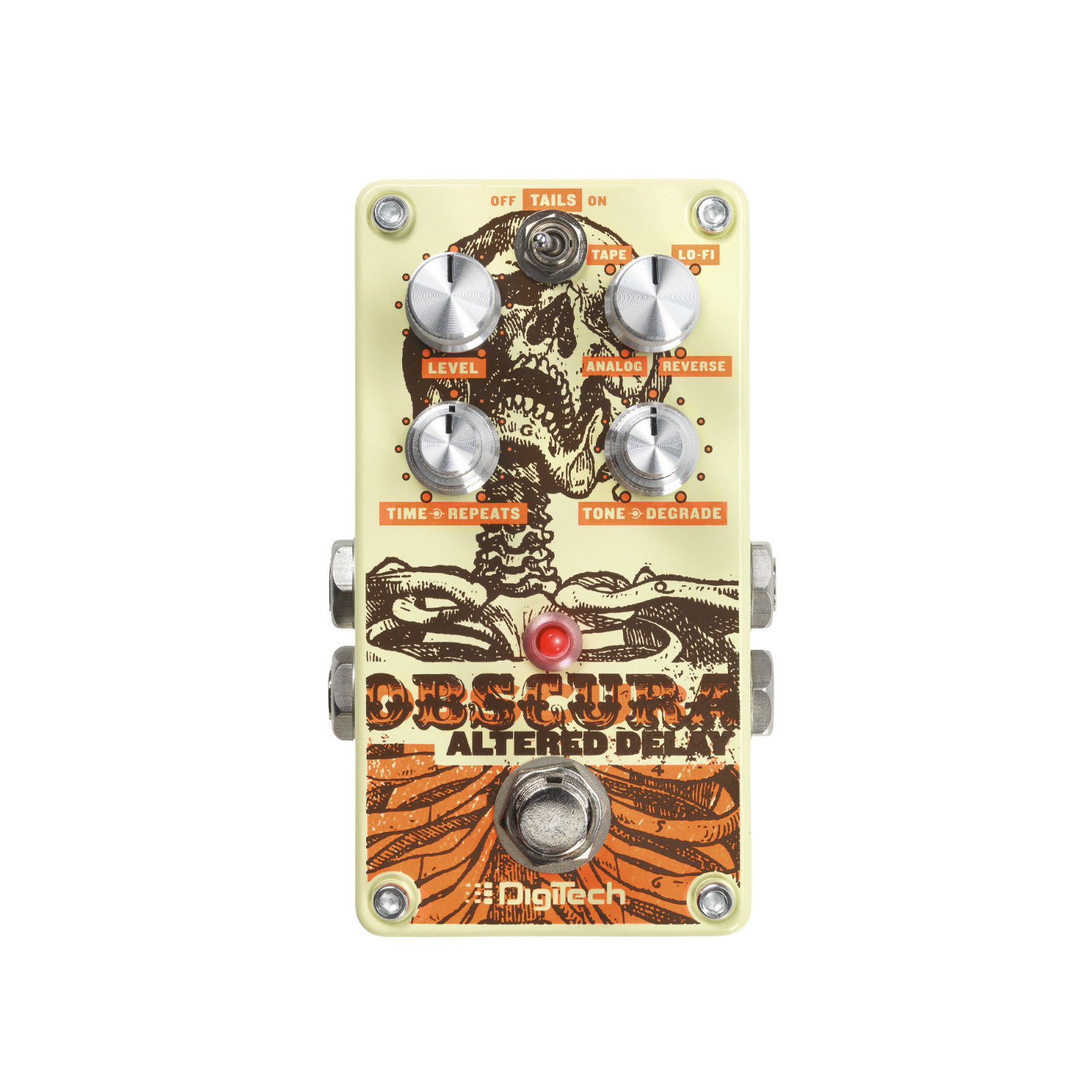 Obscura - Beige - Altered Delay Pedal - Front