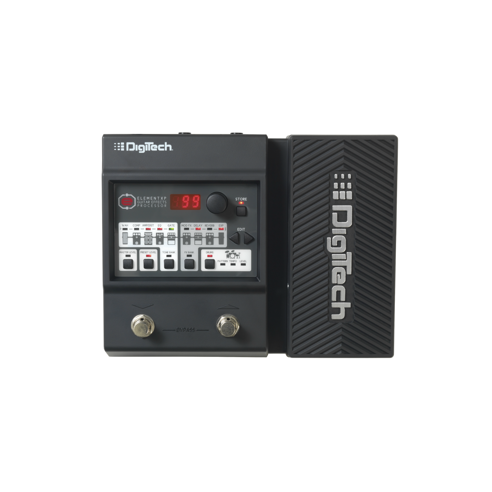 DigiTech Element XP (discontinued) - Black - Guitar Multi-Effects Processor with Expression Pedal - Front