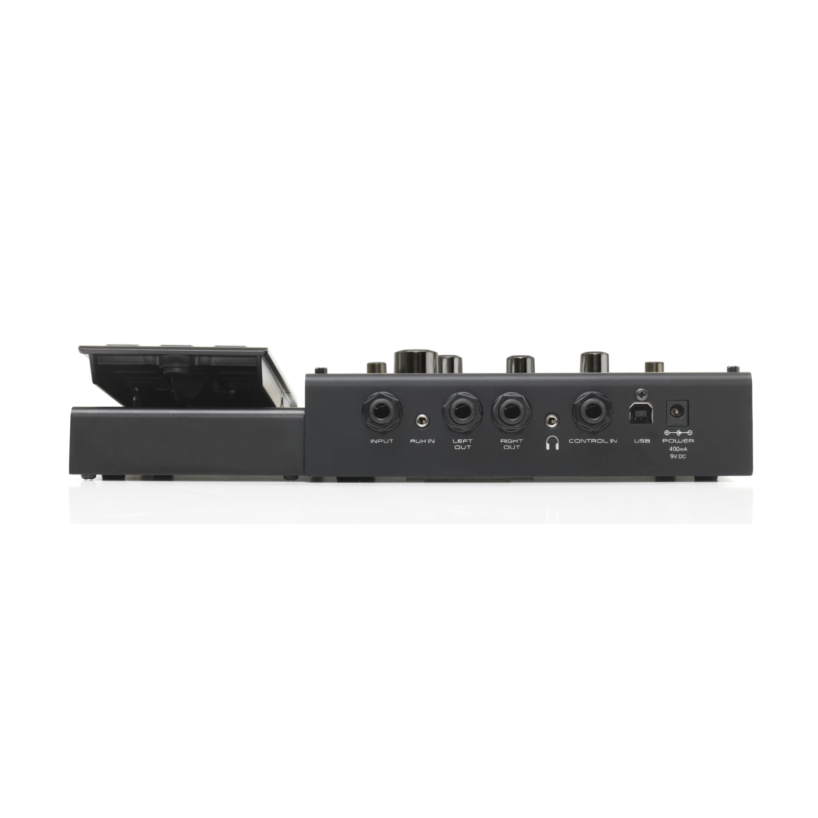 RP360 XP - Black - Guitar Multi-Effect Floor Processor with USB Streaming and Expression Pedal - Back