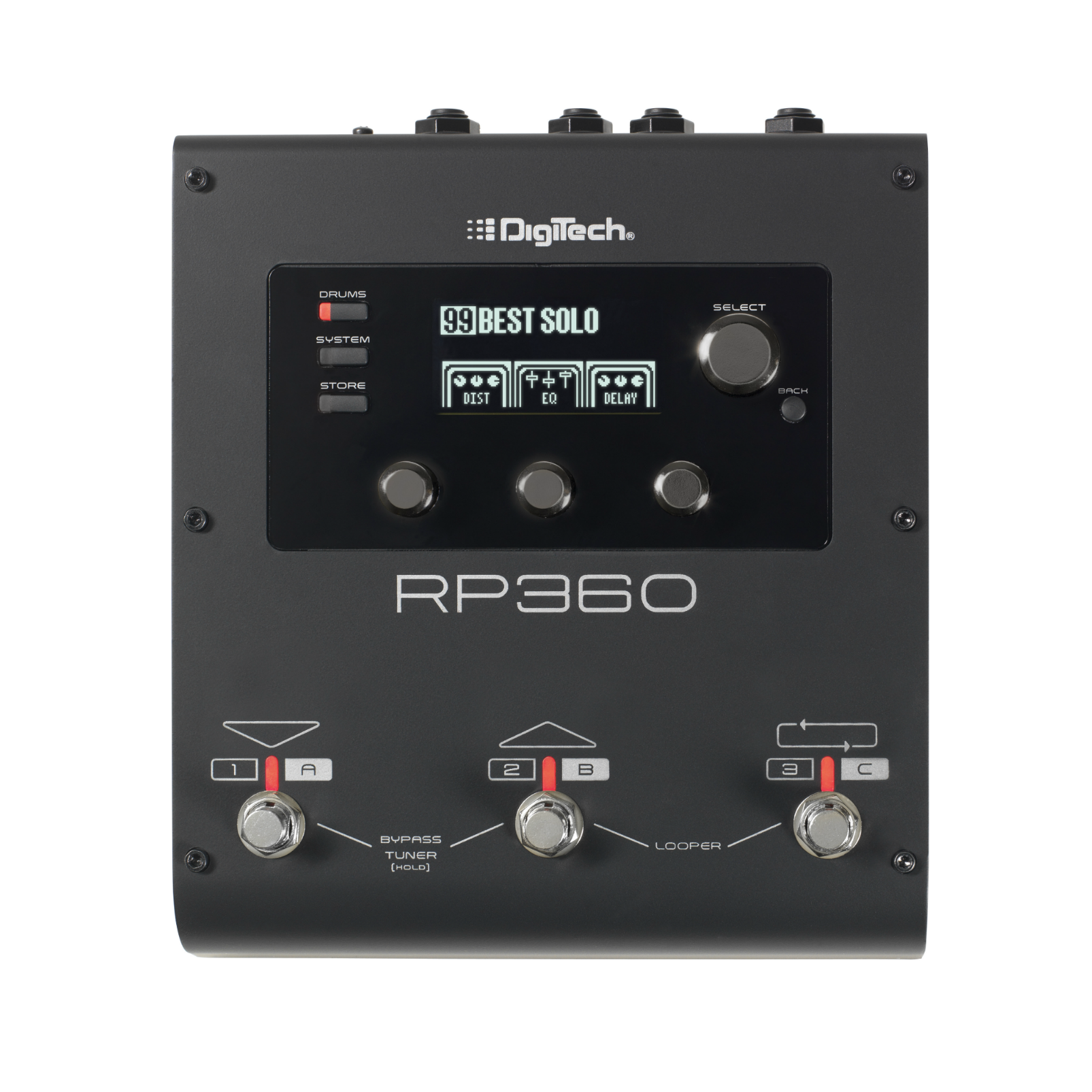 RP360 - Black - Guitar Multi-Effect Floor Processor with USB Streaming - Front