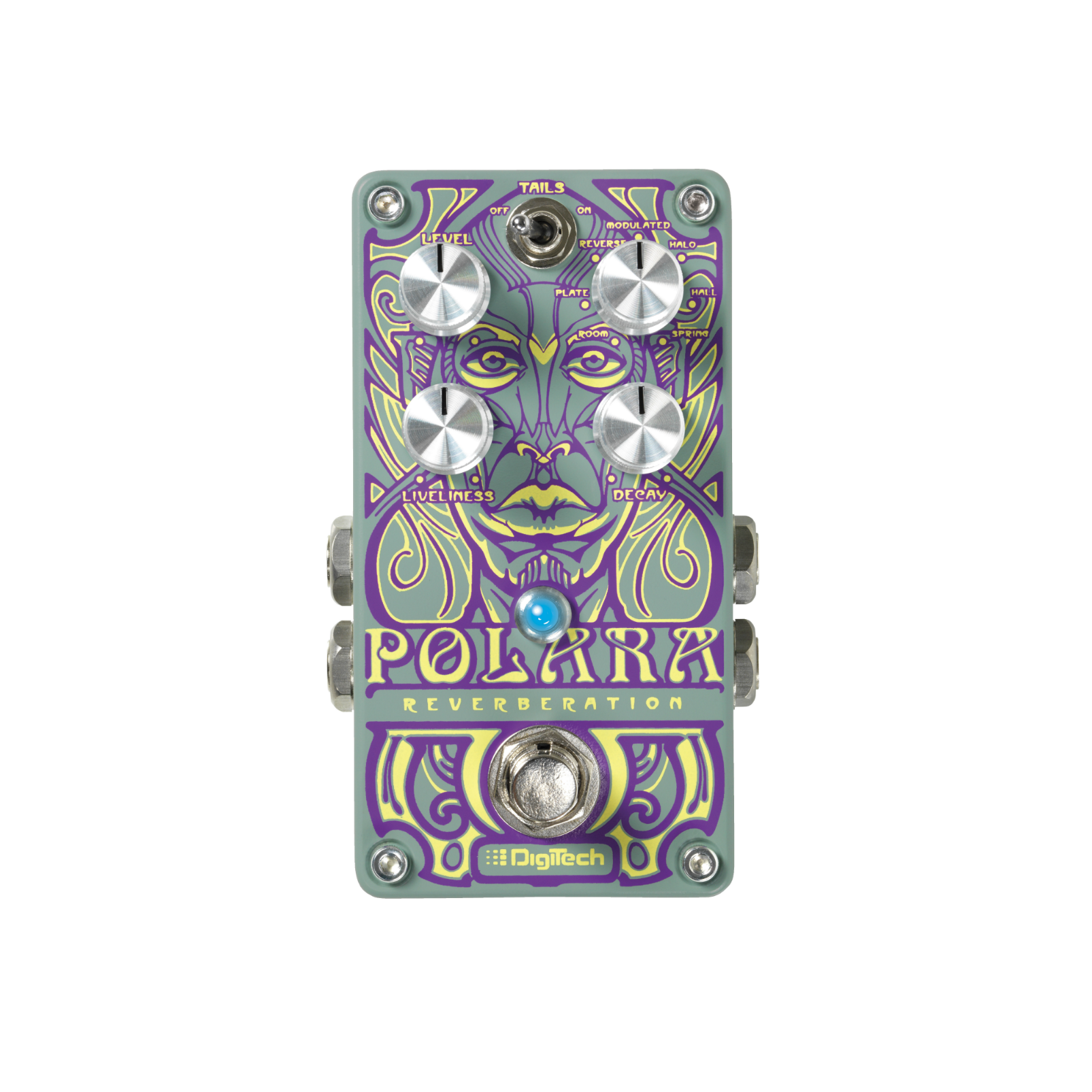 Polara (discontinued) - Green - Reverb Pedal - Front