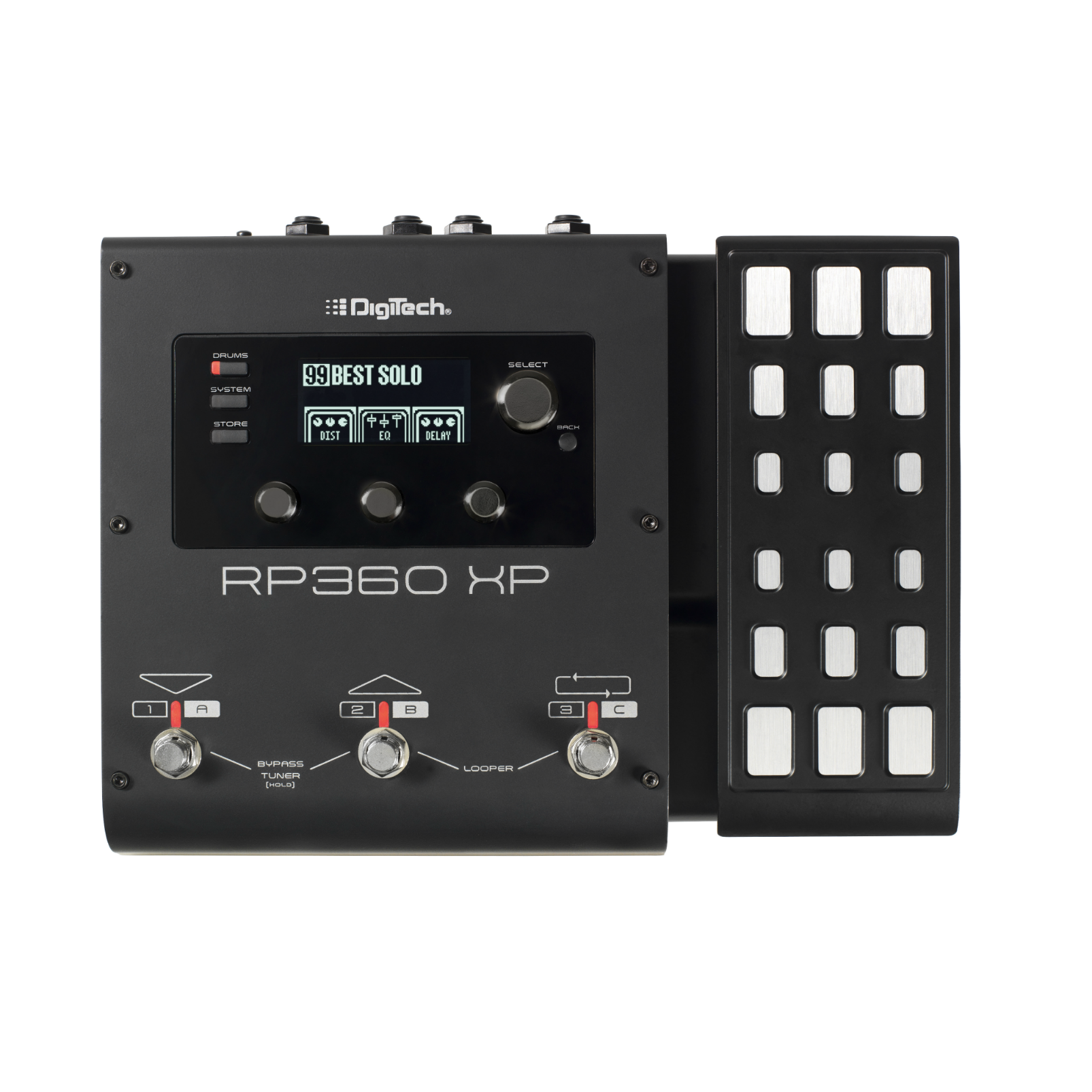 RP360 XP - Black - Guitar Multi-Effect Floor Processor with USB Streaming and Expression Pedal - Front
