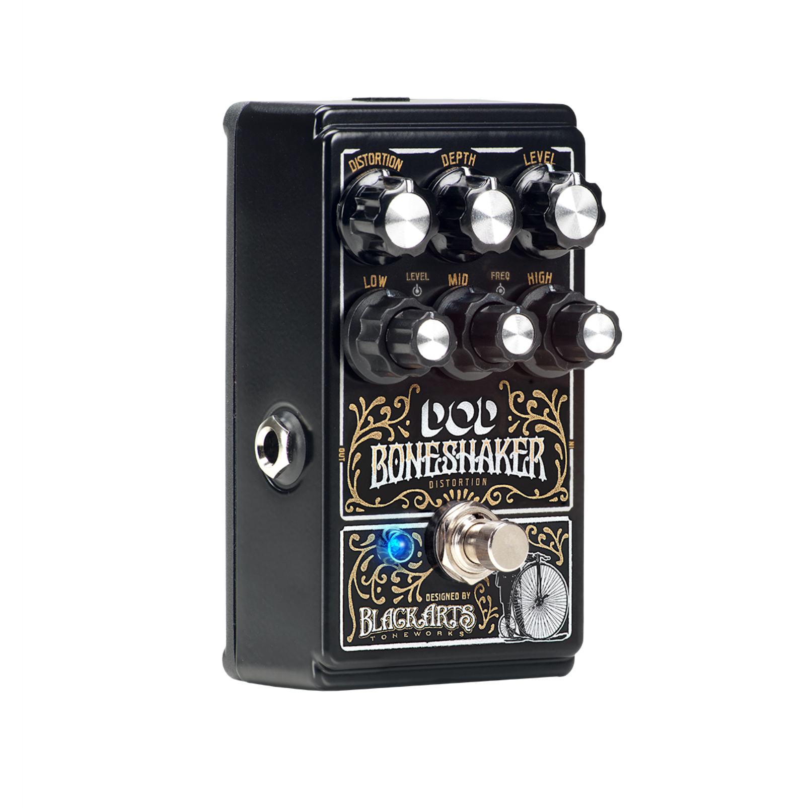 Boneshaker - Black - Distortion Pedal with 3-Band Semi-Parametric EQ - Hero