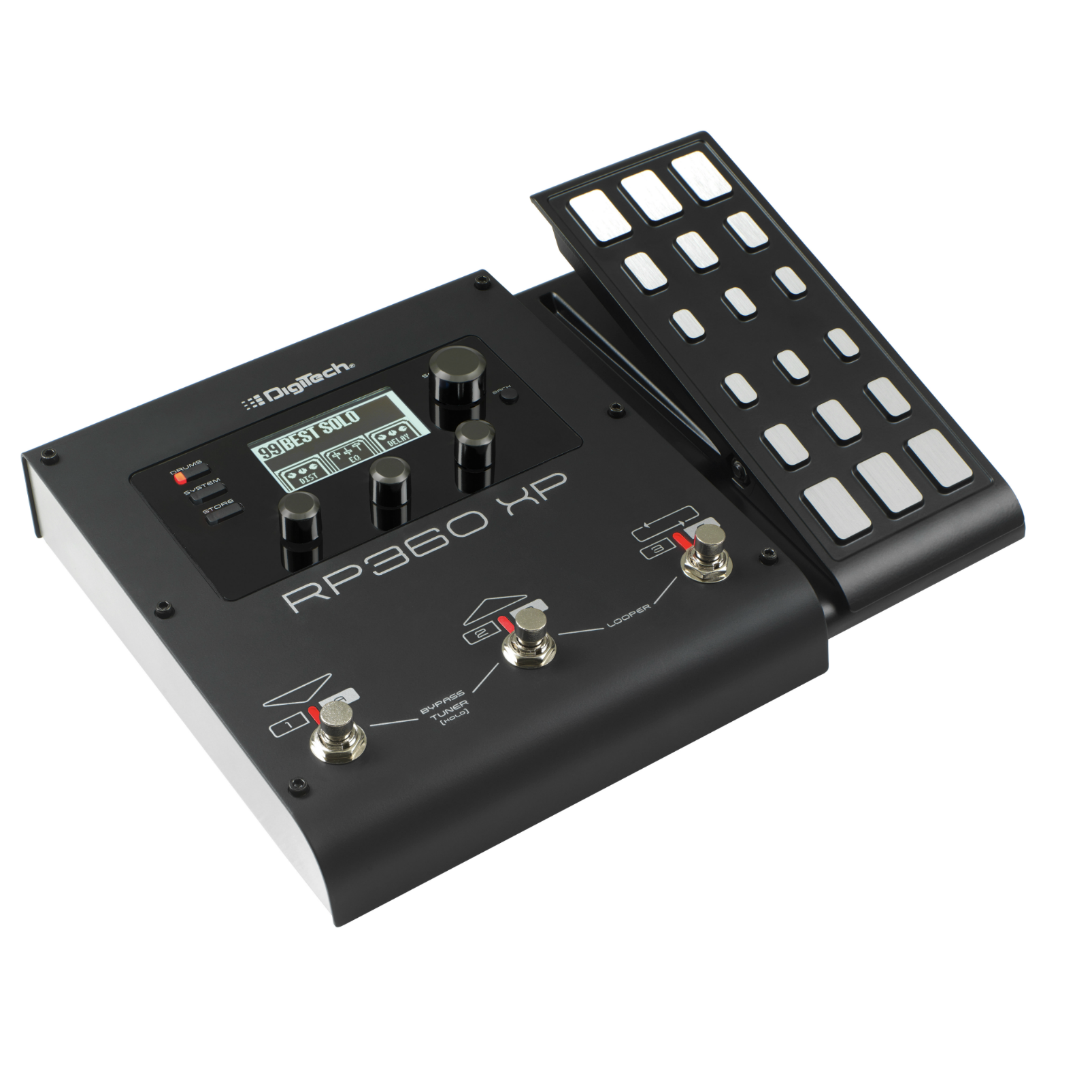 RP360 XP - Black - Guitar Multi-Effect Floor Processor with USB Streaming and Expression Pedal - Hero