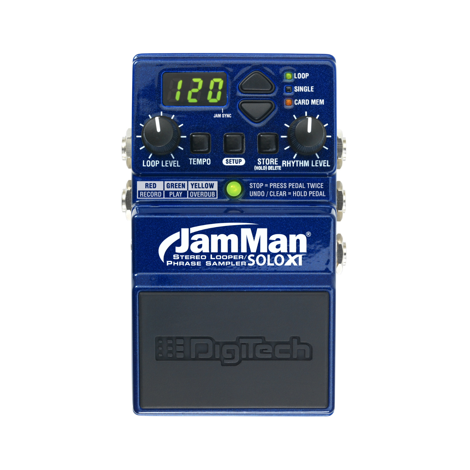 JamMan Solo XT (discontinued) - Blue - Stereo Looping in a Compact Pedal with JamSync - Front