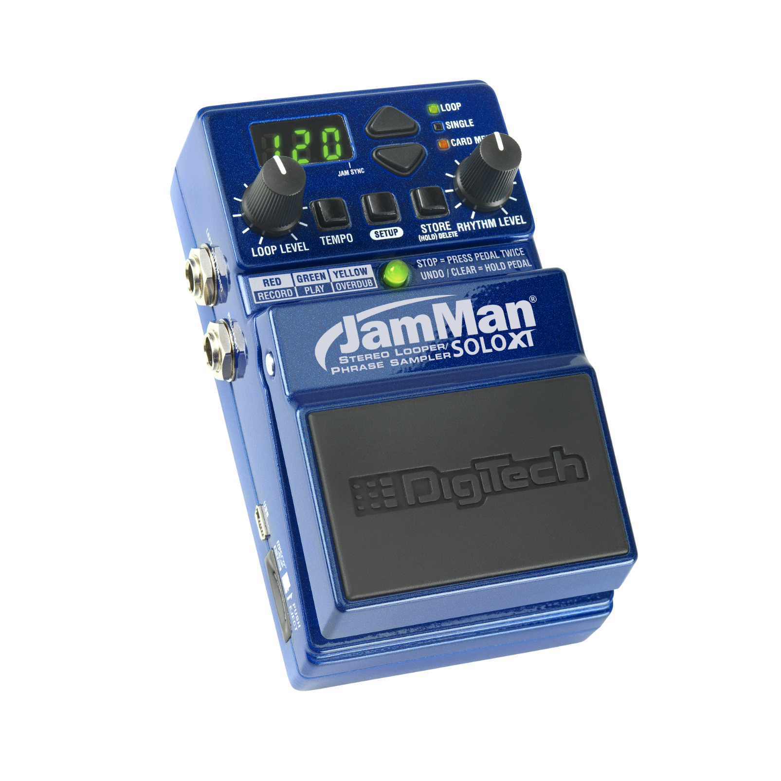 JamMan Solo XT (discontinued) - Blue - Stereo Looping in a Compact Pedal with JamSync - Hero
