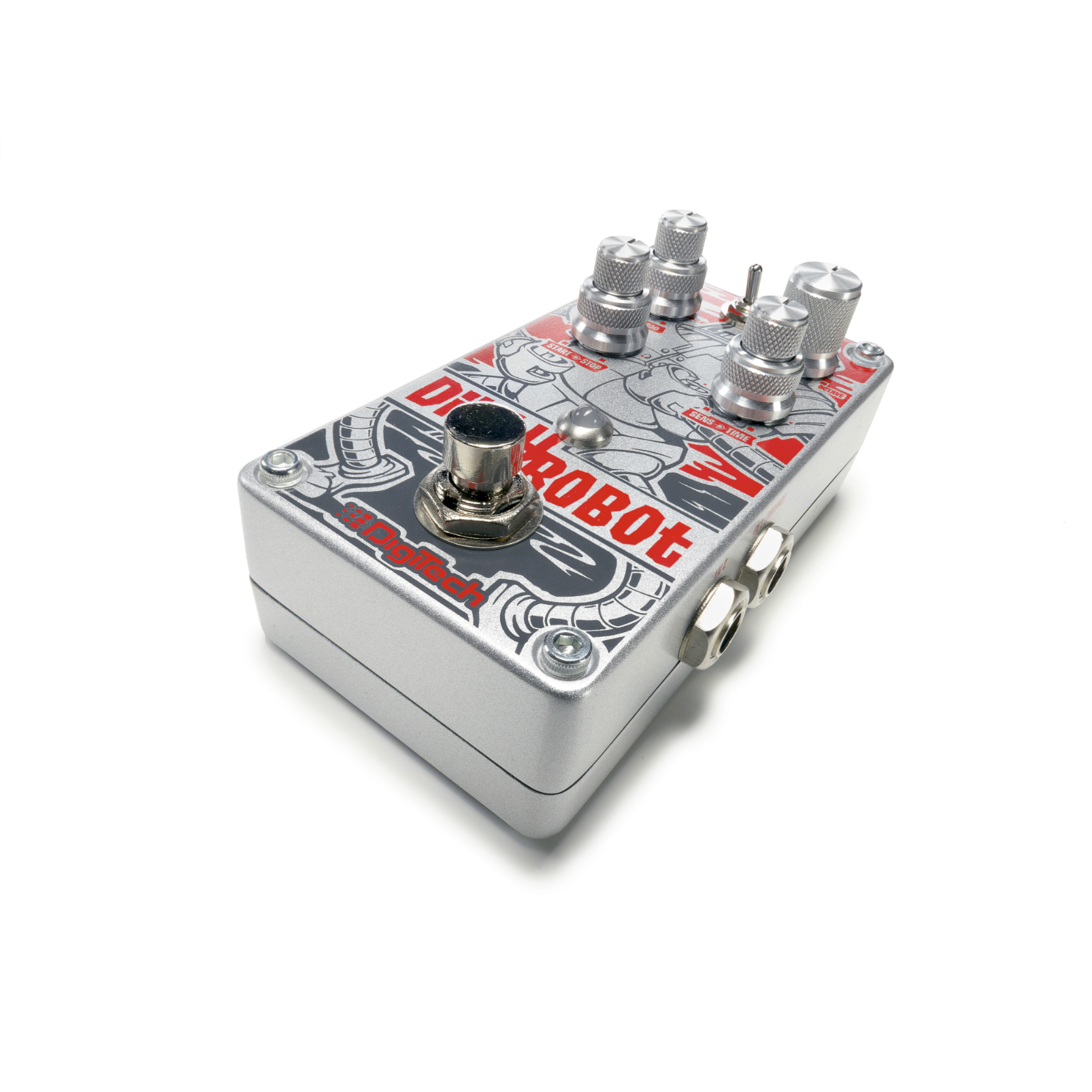 Dirty Robot - Red - Stereo Mini-Synth Pedal - Detailshot 1