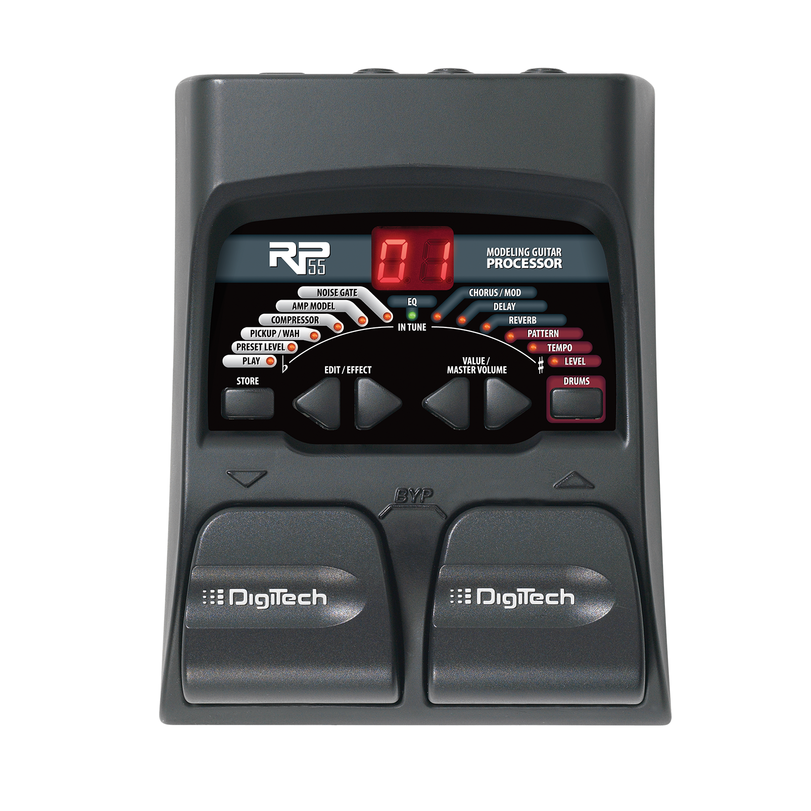 RP55 - Black - Guitar Multi-Effects - Front